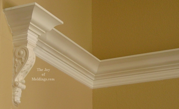 hardwood corbel painted white
