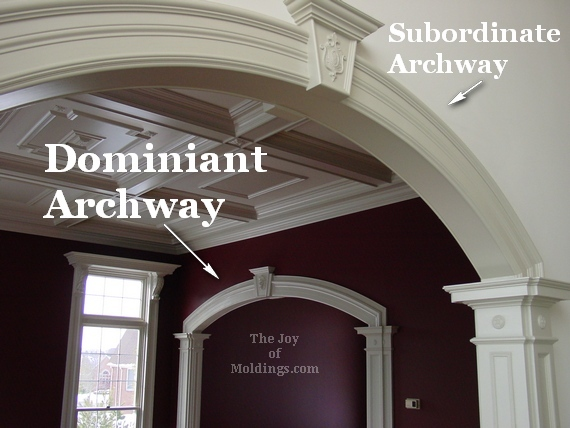 archways interior moldings living room
