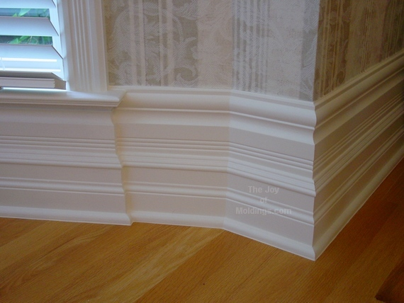 How do i make make this large baseboard the joy of Modern floor molding