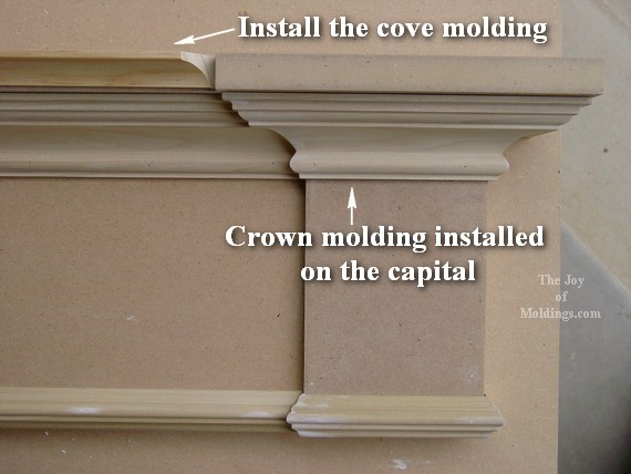 cove molding for diy door surround