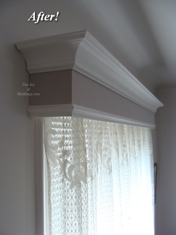 Painted window valance cornice box
