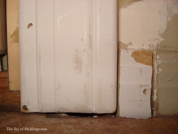 simple door trim and baseboard