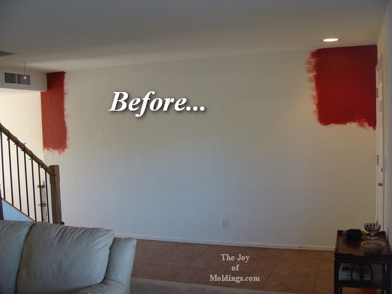 red wall living room. Picture Rail Molding Before  Afters Picture Rail Molding In Foyer The Joy Of Moldings Com