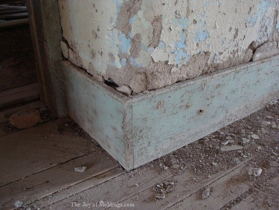 victorian baseboard in historic home