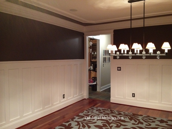 How to build a wood steam box craftsman style wainscoting for Dining room wainscoting