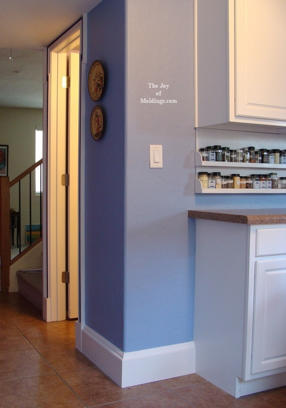 how to install diy kitchen baseboard moldings
