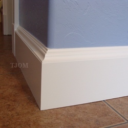 large mdf white painted molding