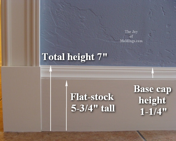 How to install baseboard 110 for the joy of for Standard crown molding size