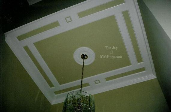 diy mdf coffered ceiling - Ceiling Molding Design Ideas