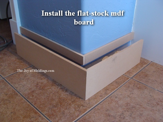 diy mdf kitchen baseboard moldings