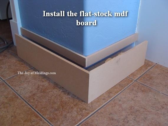 diy mdf kitchen baseboard moldings