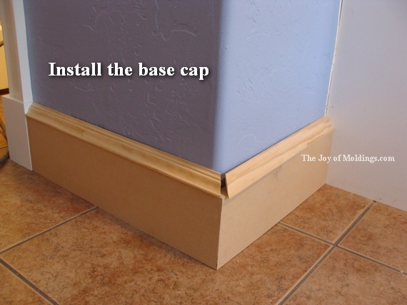Ogee base cap moldings
