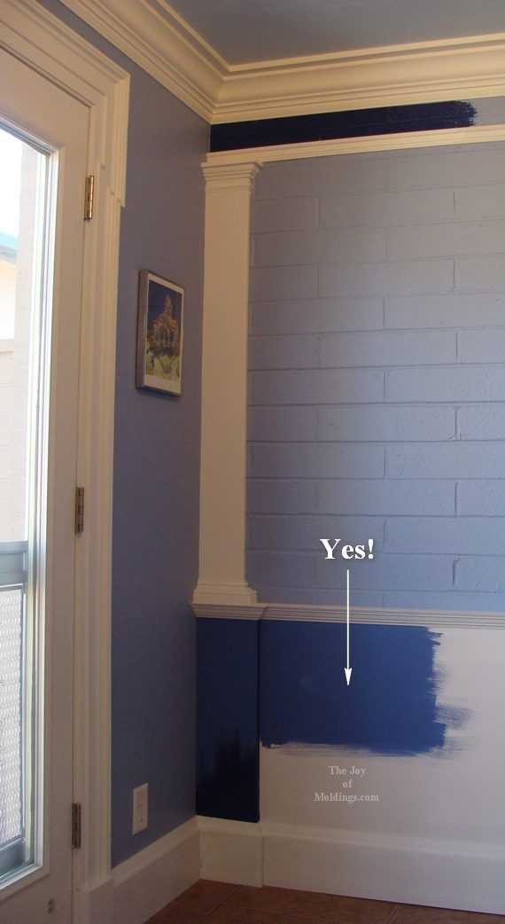 wainscoting on brick wall small kitchen
