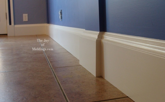 How To Install Baseboard 110 For The Joy Of: modern floor molding