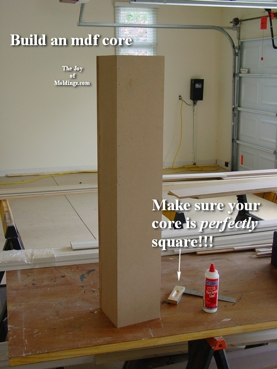 how to build a diy newel post