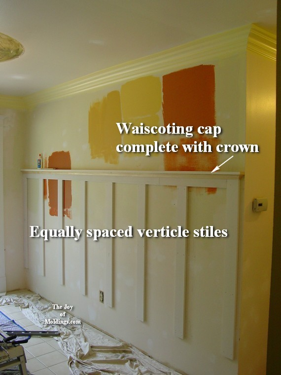 diy easy wainscoting