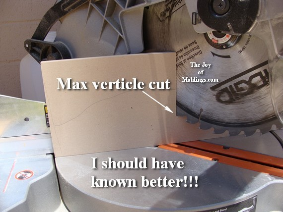 how to cut baseboard with miter saw