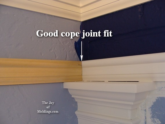 picture rail molding cope joint