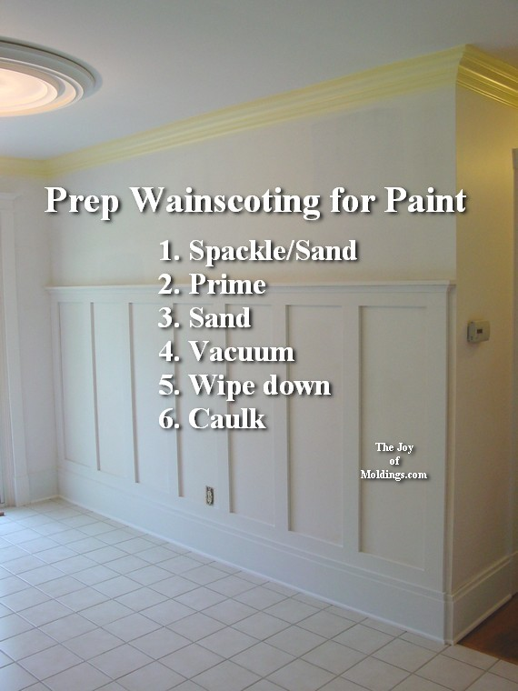 2 Wainscoting 100 Tall How To Paint The Joy Of Moldings Com