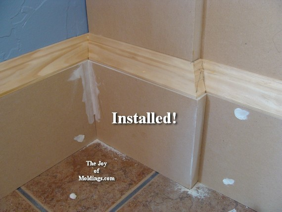 Wainscoting 109 Part 5 Wrapping The Baseboard The Joy