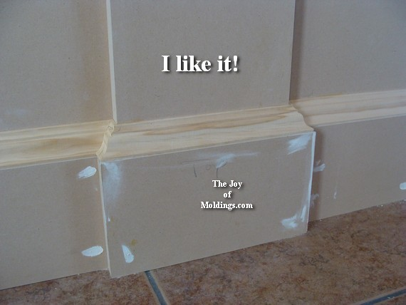 WAINSCOTING-109 Part 5: Wrapping the Baseboard - The Joy ...