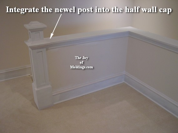 newel post diy walf pony wall