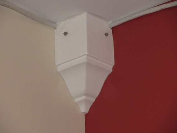 Crown Molding To Hide Speaker Wires On A Budget The