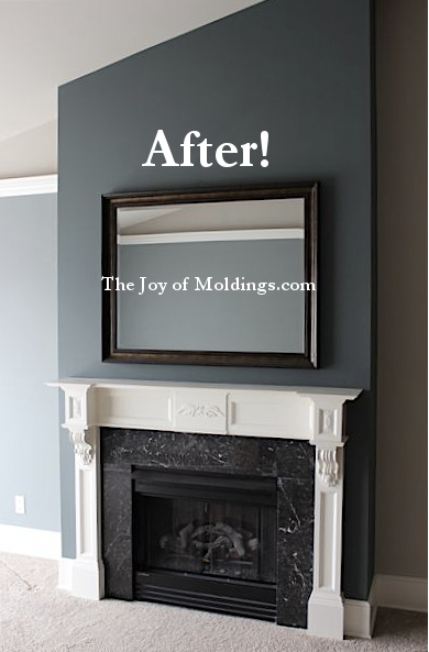 fireplace mantel diy free plans after picture the joy of