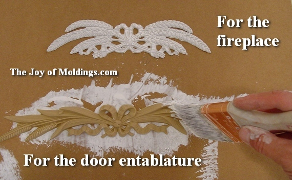 woodworking applique for fireplace