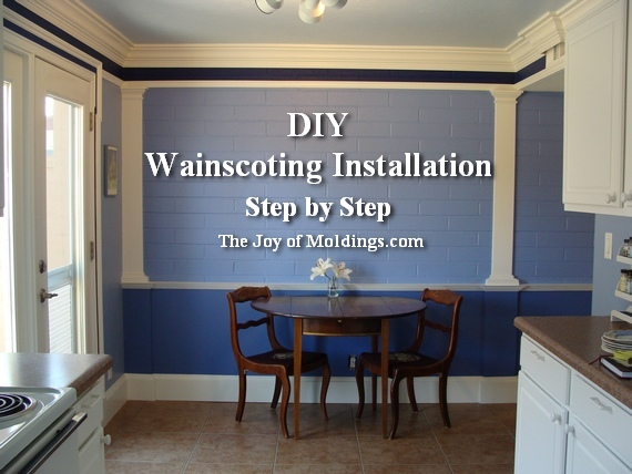 install wainscoting on brick wall