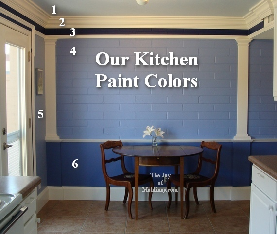 the blue paint in our kitchen is from sherwin williams the dark blue