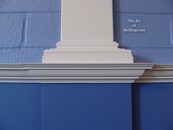 how to install moldings on a brick wall
