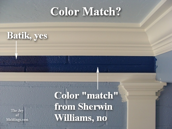 Color Match Paint how to paint a kitchen blue for $217.00. ok, five different blues