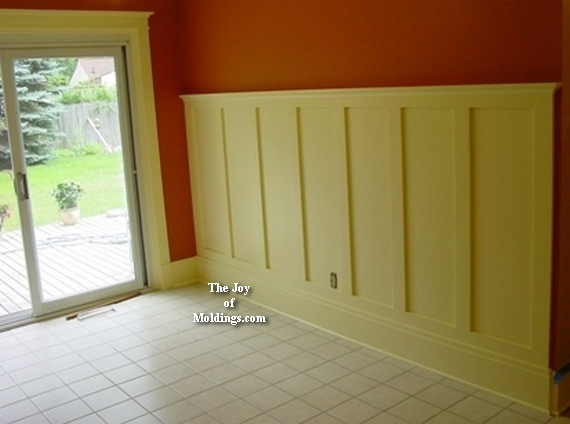 Wainscoting around windows