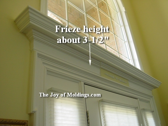 how to install front door moldings with frieze