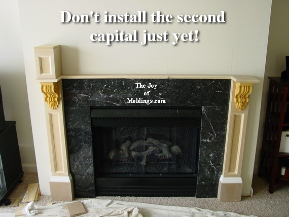 How to Build FIREPLACE MANTEL102 Part 3 Make the Collar