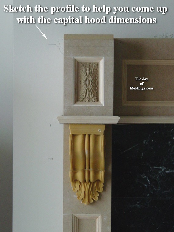 How to Build FIREPLACE MANTEL102 Part 5 Make the Hood The Joy