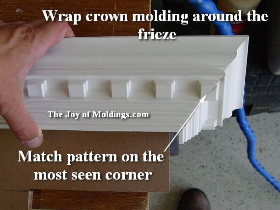 how to build a mantel out of crown molding
