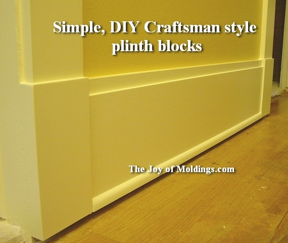about plinth blocks for door trim