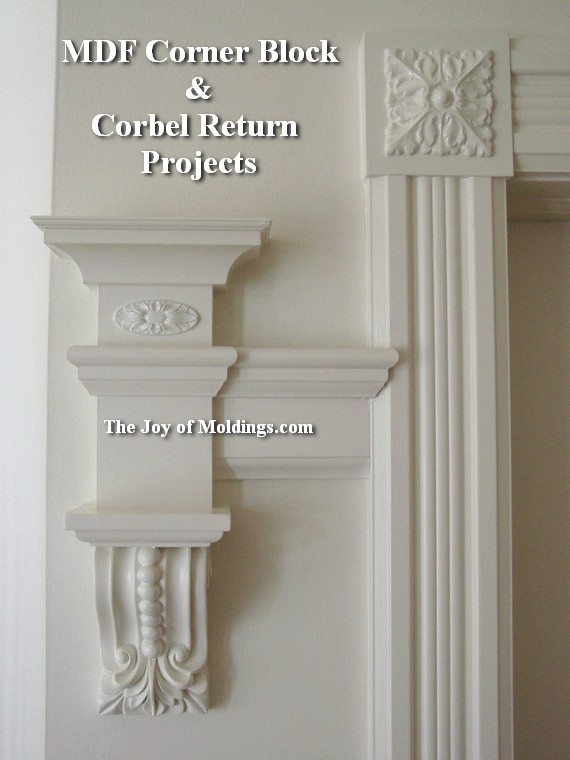 how to install corbels and corner block door trim molding