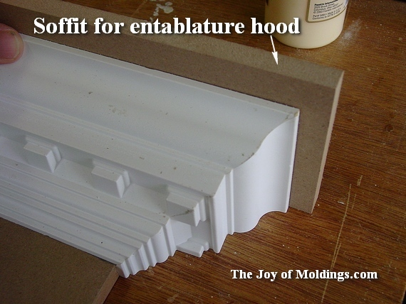 soffit for fireplace overmantel made of mdf board