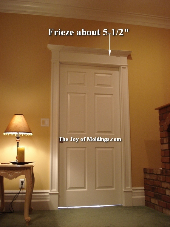 Victorian farmhouse overdoor with frieze & 5-victorian-overdoor-door-trim-frieze - The Joy of Moldings.com