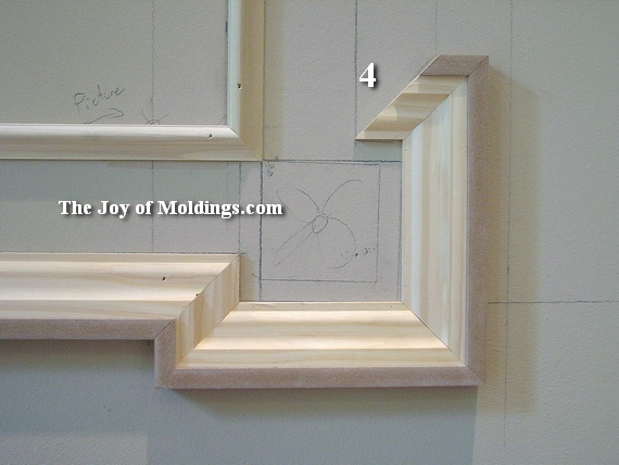 how to install moldings above a fireplace