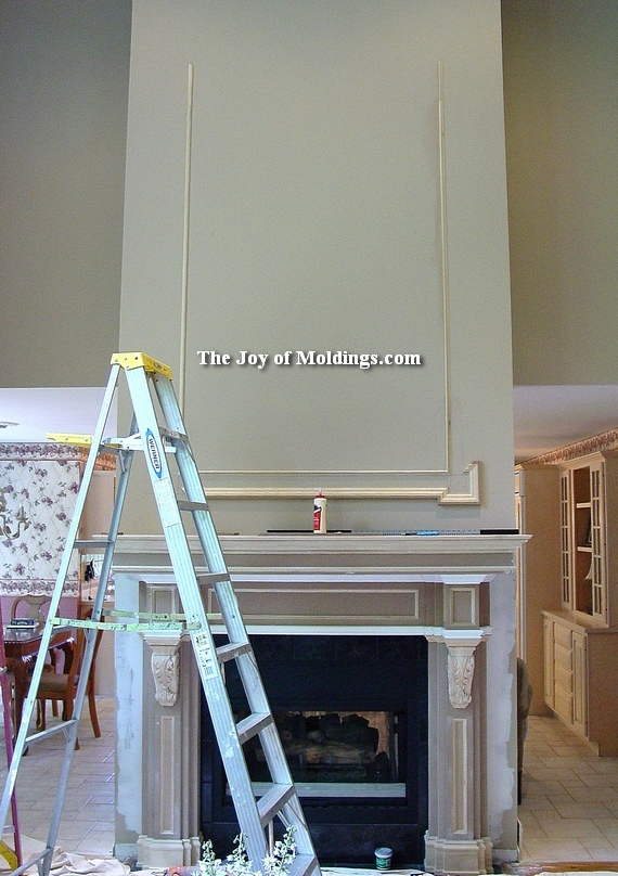 how to install moldings in a great room