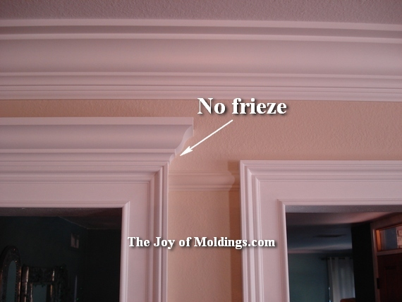 crown molding over door trim & 8-crown-molding-overdoor-no-frieze - The Joy of Moldings.com