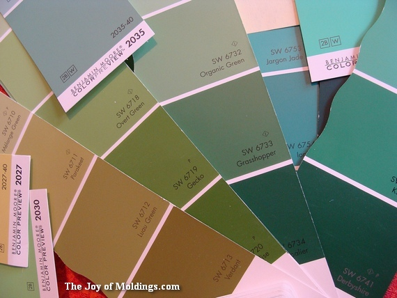 paint color chips for half bathroom