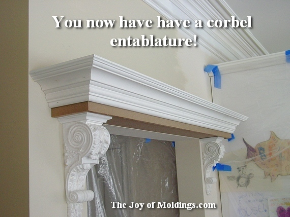Charming Crown Molding And Corbels Over Door