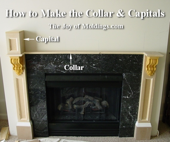 How to build fireplace mantel 102 part 3 make the collar capitals how to make an mdf fireplace mantel step by step solutioingenieria Images