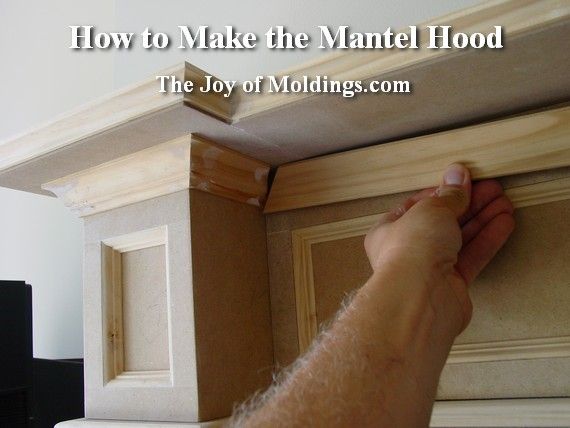 DIY Fireplace Mantel Crown Molding