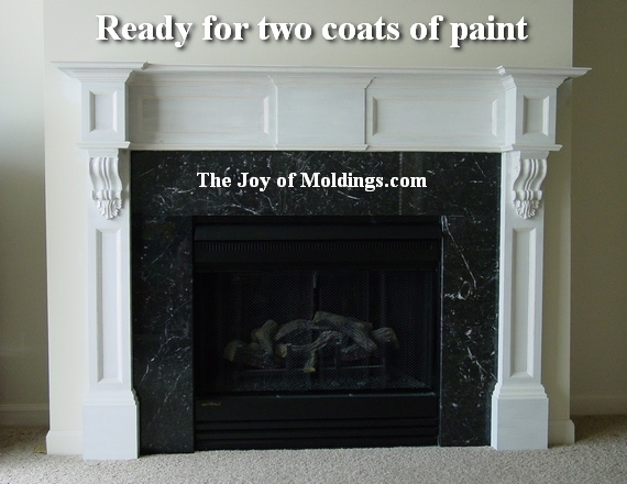 How to Paint Fireplace Mantels 570 x 440